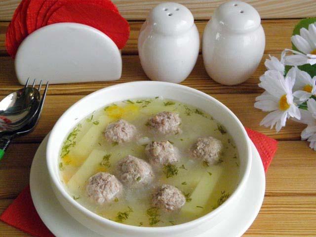 Суп с фрикадельками, рецепт пошаговый с рисом и картофеле - 6 лучших рецептов.