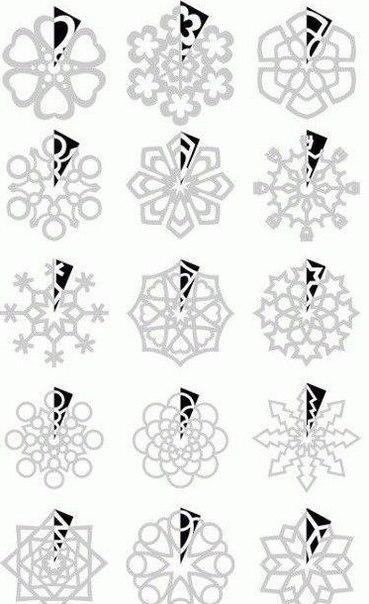 Шаблоны для снежинок