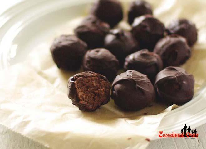 сладкие трюфели из черной фасоли