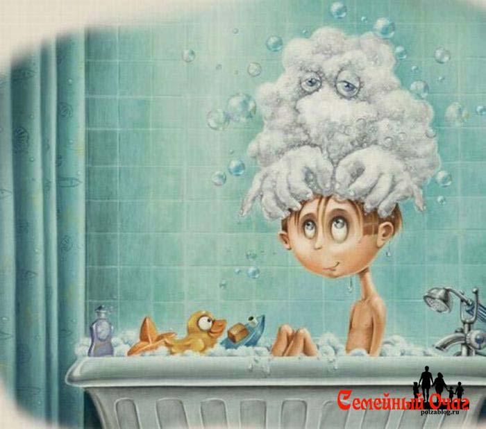 Мытье головы - увлекательное занятие