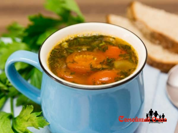 гороховый суп из свежего зеленого горошка