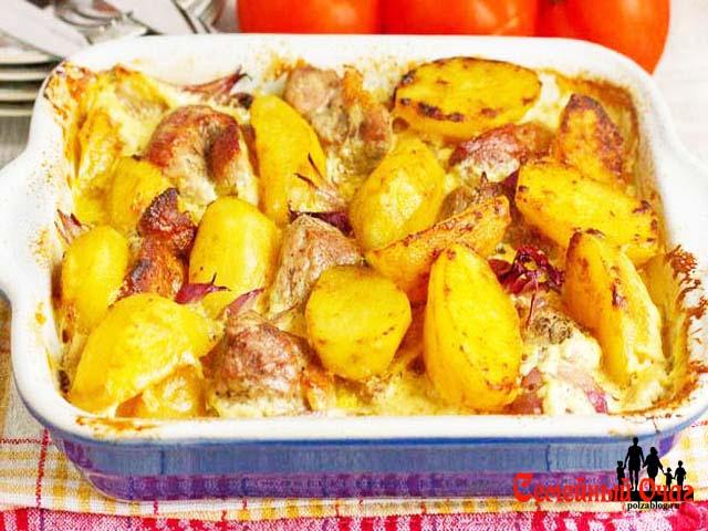 картофель в мультиварке рецепты тушёная на мол или майонез