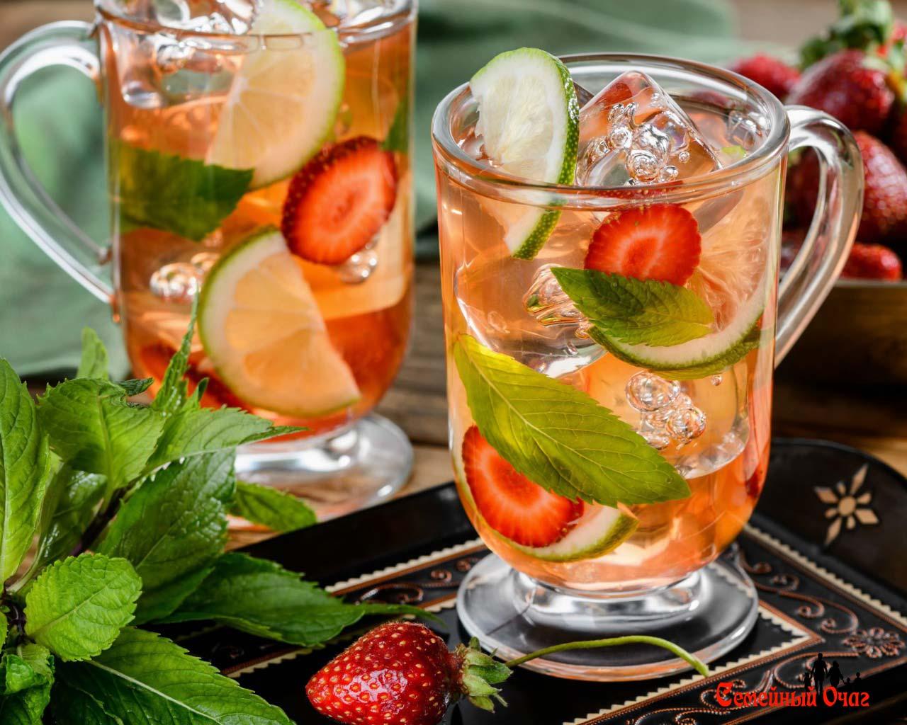 Фруктовый чай со льдом