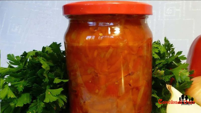 Салаты на зиму из овощей - просто и вкусно.