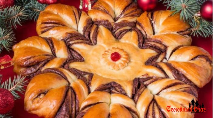 пирог рожденственская звезда