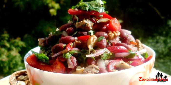 вегетарианский салат тбилиси