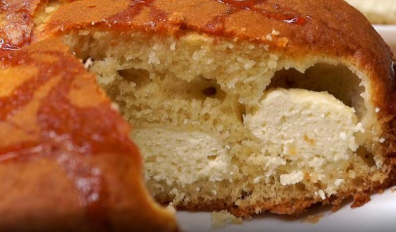 пирог на кефире с творогом