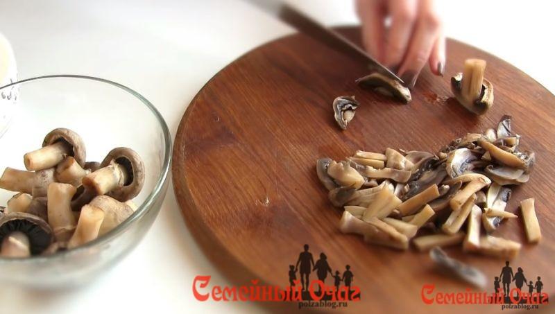 грибы соломкой