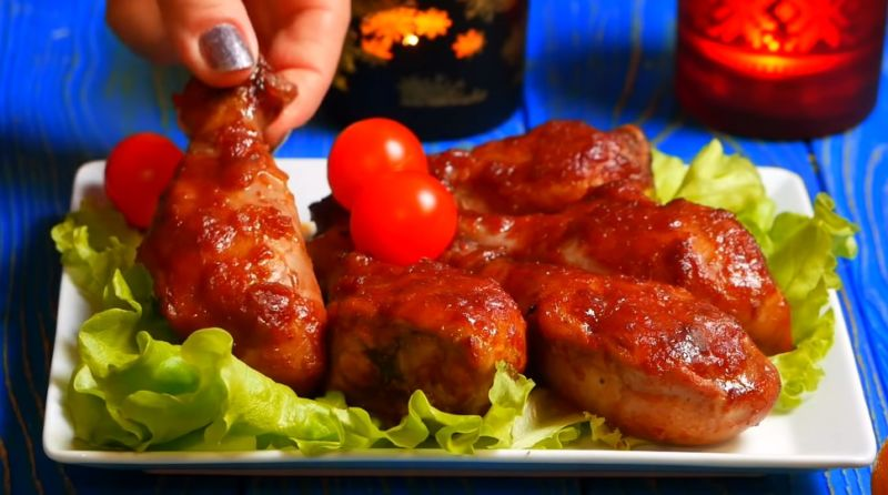 курица в гранатовом соусе