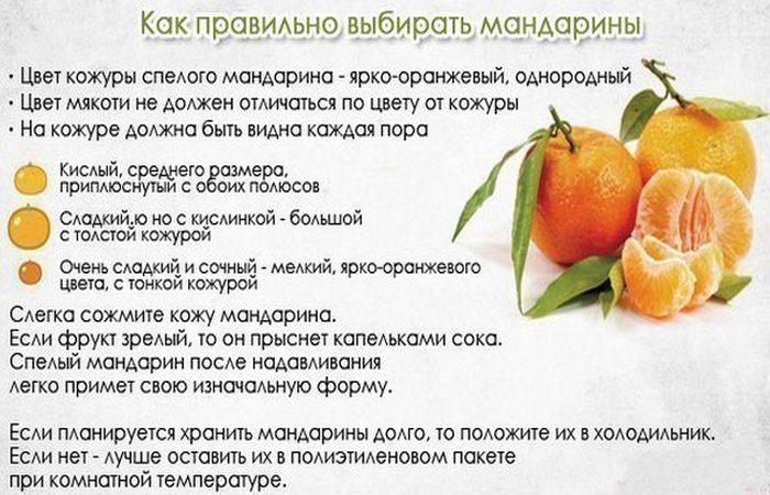 как выбрать спелые мандарины