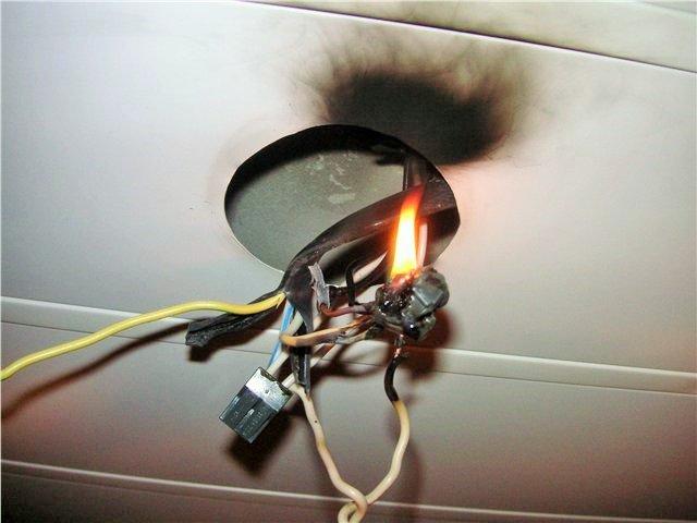 возгорание проводки